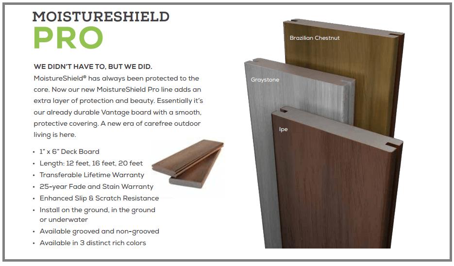 Moistureshield Pro Composite Decking